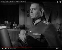 "Abb. 5: Rommel (Mason, rechts) gibt sich als unpolitischer Soldat (""The Desert Fox: The Story of Rommel"" 1951/20th Century Fox, Screenshot, auf Youtube https://www.youtube.com/watch?v=T4n48bVGom8)"