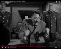 "Abb. 8: Hitler (Luther Adler) wird hysterisch (""The Desert Fox: The Story of Rommel"" 1951/20th Century Fox, Screenshot, auf Youtube https://www.youtube.com/watch?v=T4n48bVGom8)"