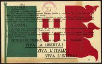 Abbildung 1: Italienische Fassung eines von Gabriele D'Annunzio verfassten und über Wien abgeworfenen Flugblatts (BfZ, Signatur 1_050_002)