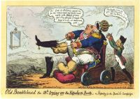 « Old Bumblehead the 18th trying on the Napoleon Boots –  or, Preparing for the Spanish Campaign » (George Cruikshank, 1823) (Source: http://commons.wikimedia.org/wiki/File:Cruikshank_-_Old_Bumblehead.png?uselang=fr)