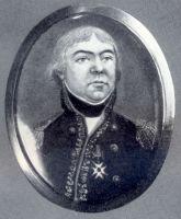 Das Bild zeigt den Obersten Theobald von Hügel, ersten Kommandeur des Regiments
