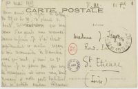 Feldpostkarte von Jules Isaac an seine Frau Laure vom 1. Mai 1915
