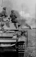"""Ein Panzer der """"Leibstandarte"""" während der Offensive"""