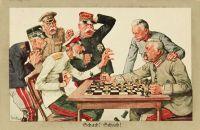 Schach! Schach! Deutsche Bildpostkarte, 1916