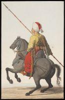 Sipahi (anonymer griechischer Künstler, ca. 1809), https://commons.wikimedia.org/wiki/File:Sipahi,_anonymous_Greek_artist,_ca._1809.jpg